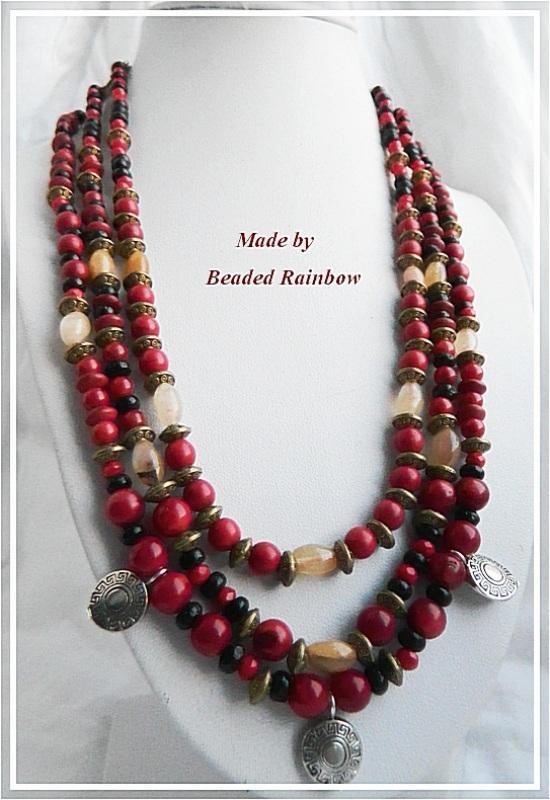 Ожерелье Этно Красный Кораллы, тонированный гов Дацишина Олеся - фото 1