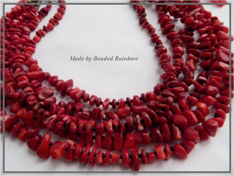 Ожерелье Рождественское Красный Тяжелое ожерелье из 6 низ Дацишина Олеся - фото 3