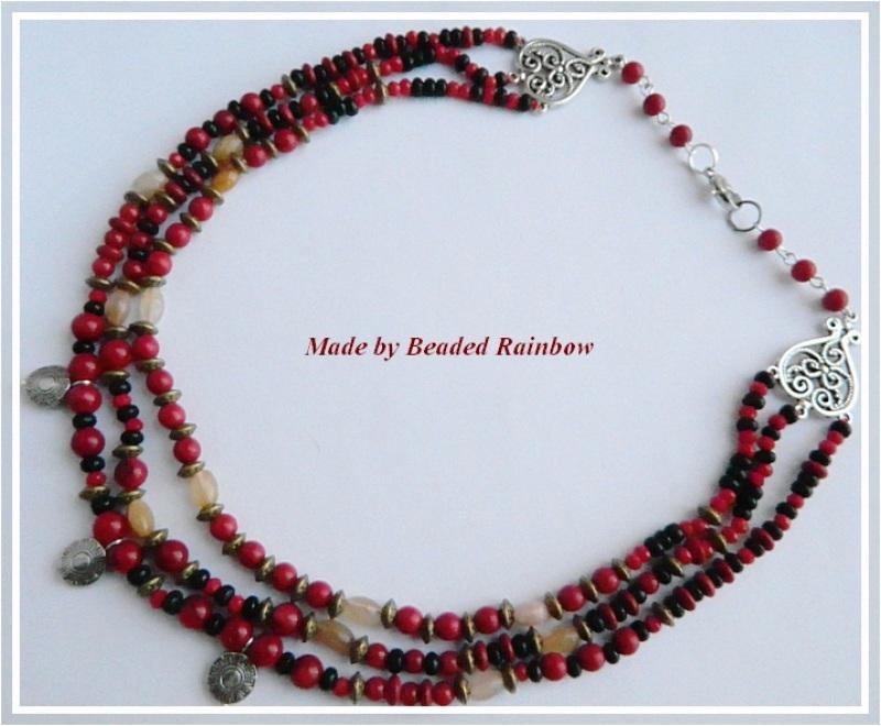 Ожерелье Этно Красный Кораллы, тонированный гов Дацишина Олеся - фото 2