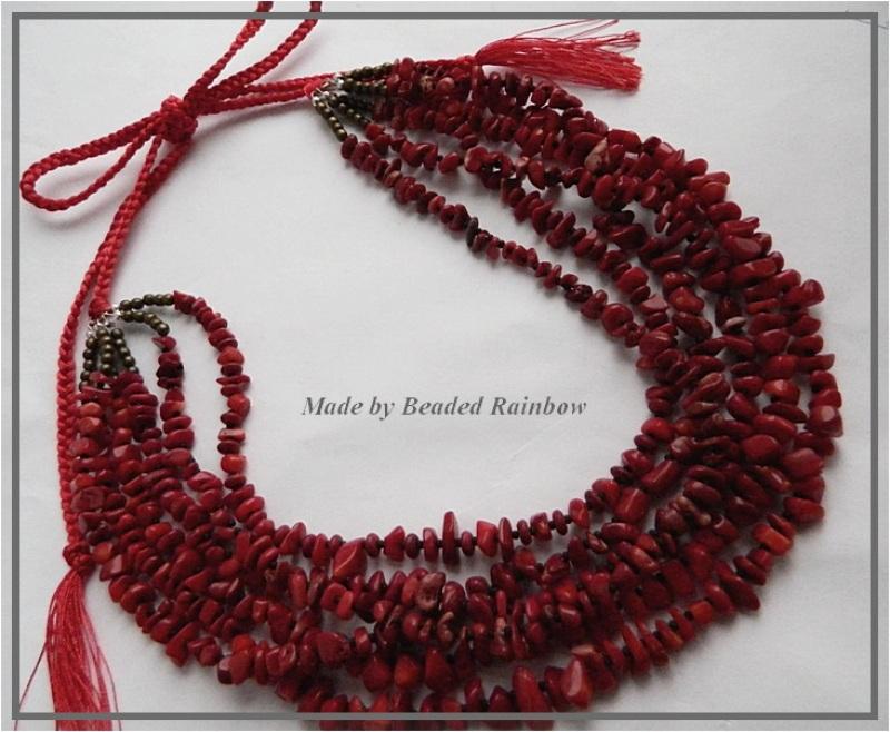 Ожерелье Рождественское Красный Тяжелое ожерелье из 6 низ Дацишина Олеся - фото 1