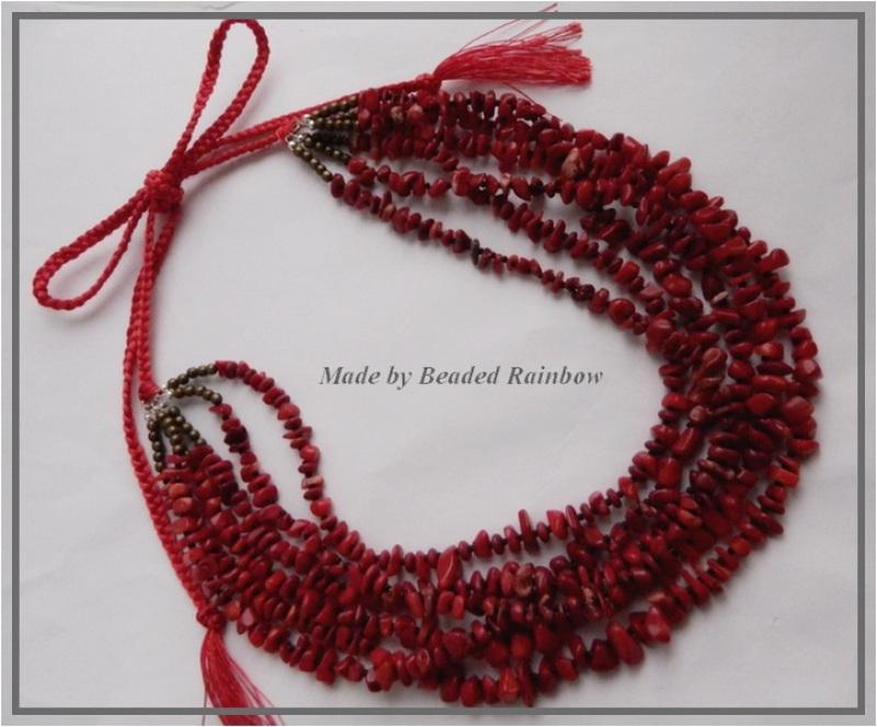 Ожерелье Рождественское Красный Тяжелое ожерелье из 6 низ Дацишина Олеся - фото 4