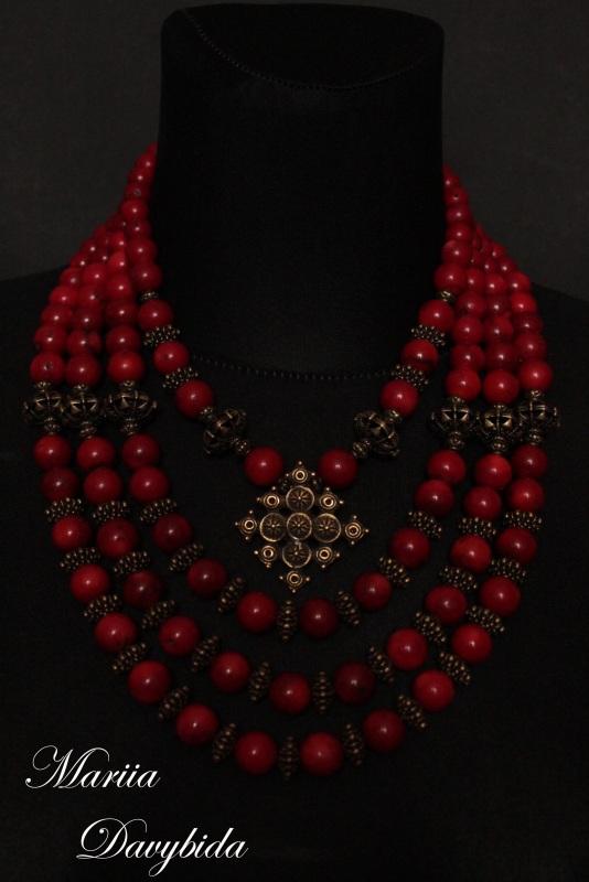 Жоржына Красный Комплект изготовлено из н Давибида Мария - фото 2