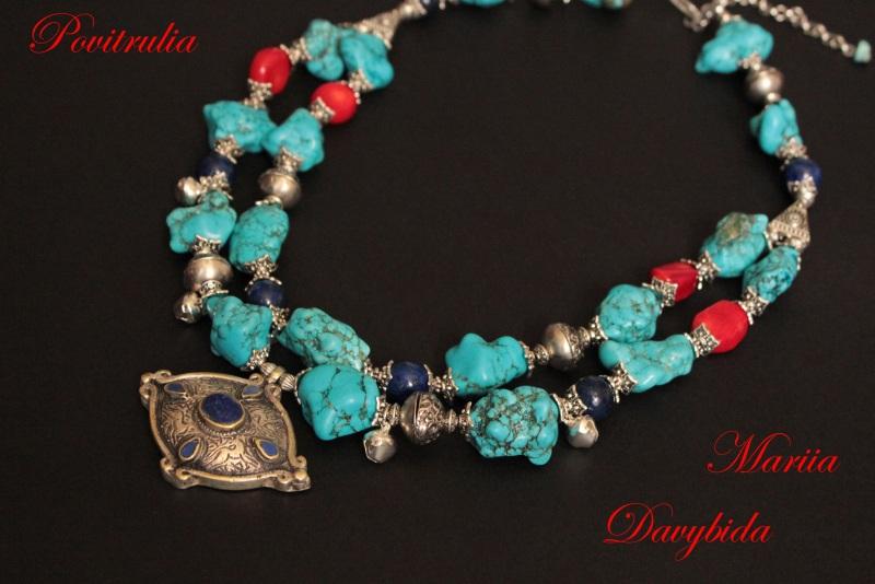 Путешествие в Марокко Разноцветный Ожерелье изготовлено из н Давибида Мария - фото 2
