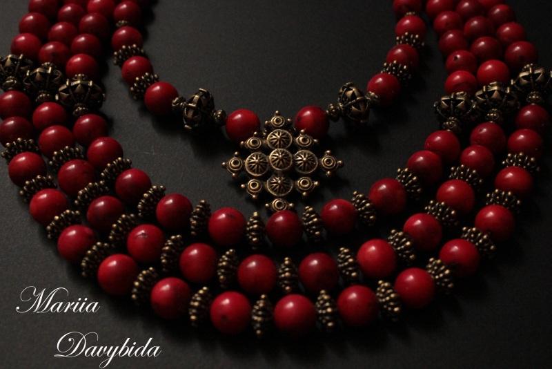 Жоржына Красный Комплект изготовлено из н Давибида Мария - фото 3