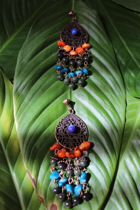 Серьги Джая  Серьги изготовлены из зме Давибида Мария - фото 3