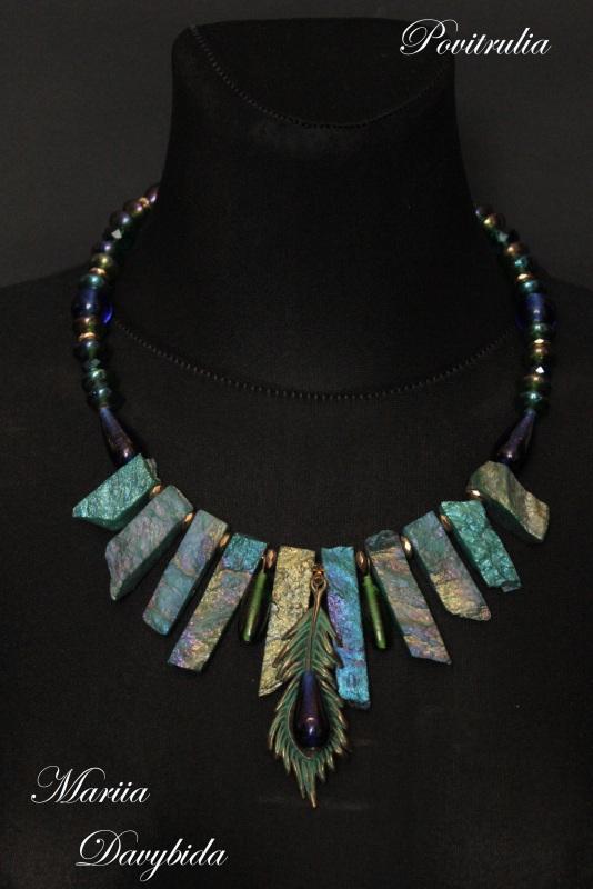 Пава Разноцветный Ожерелье изготовлено на п Давибида Мария - фото 2