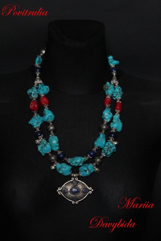 Путешествие в Марокко Разноцветный Ожерелье изготовлено из н Давибида Мария - фото 4