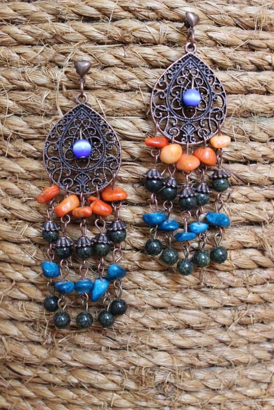 Серьги Джая  Серьги изготовлены из зме Давибида Мария - фото 1