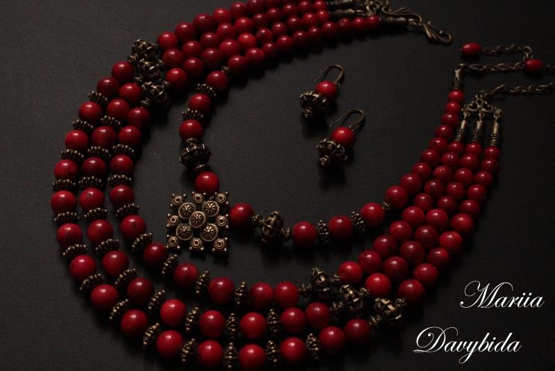 Жоржына Красный Комплект изготовлено из н Давибида Мария - фото 4