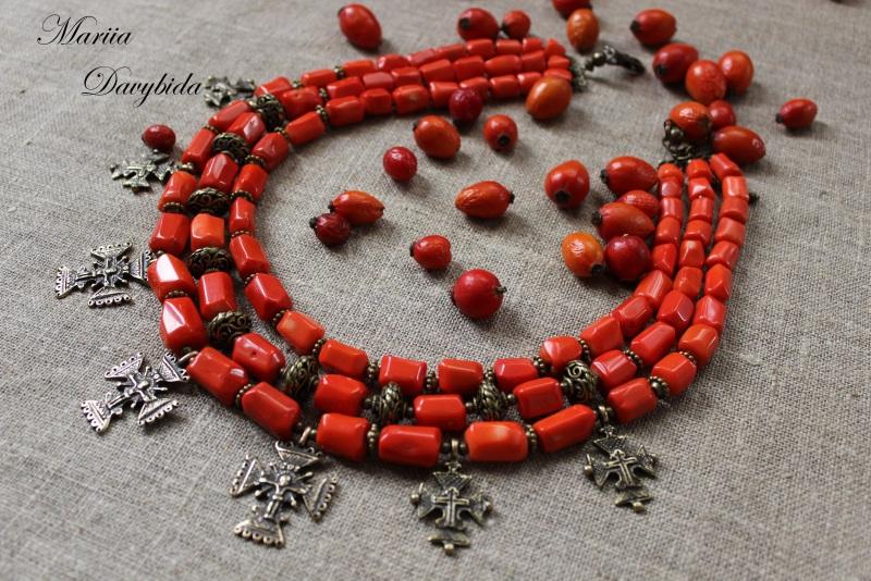 Шипшина Красный Ожерелье изготовлено из к Давибида Мария - фото 6