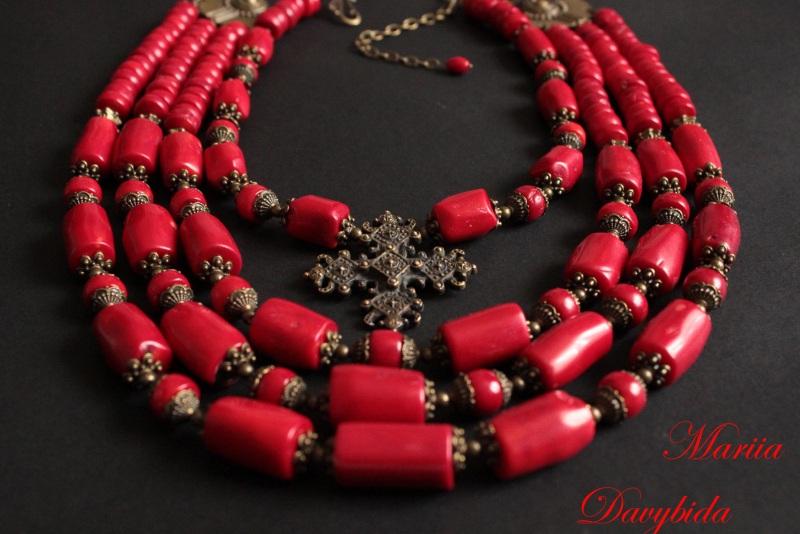 Коломыя Красный Ожерелье изготовлено из к Давибида Мария - фото 3