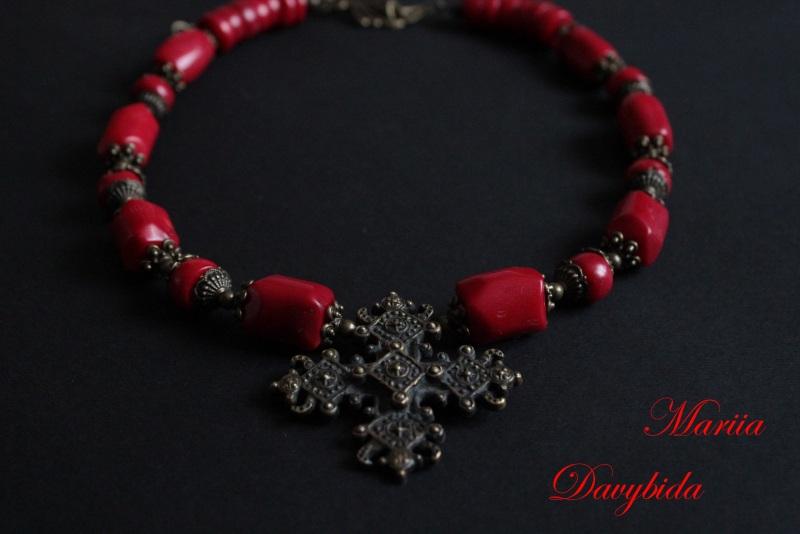 Коломыя Красный Ожерелье изготовлено из к Давибида Мария - фото 4