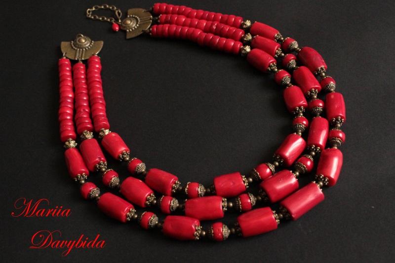 Коломыя Красный Ожерелье изготовлено из к Давибида Мария - фото 5