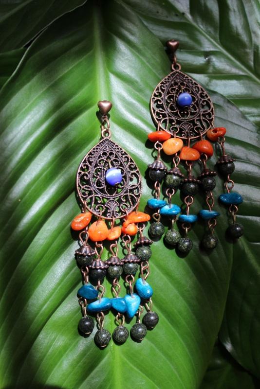 Серьги Джая  Серьги изготовлены из зме Давибида Мария - фото 2
