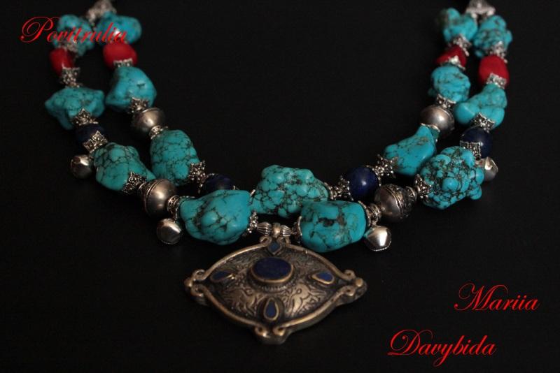 Путешествие в Марокко Разноцветный Ожерелье изготовлено из н Давибида Мария - фото 3