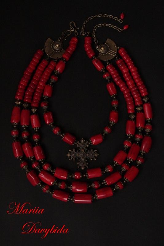 Коломыя Красный Ожерелье изготовлено из к Давибида Мария - фото 2