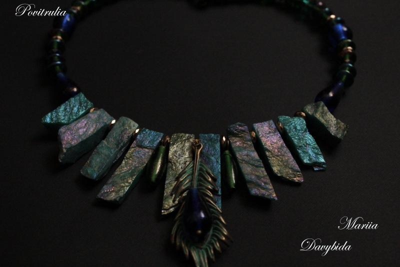 Пава Разноцветный Ожерелье изготовлено на п Давибида Мария - фото 4