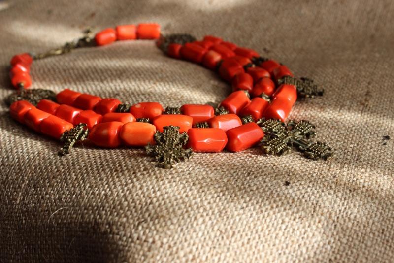 Гуцулия Красный Ожерелье изготовлено из к Давибида Мария - фото 3