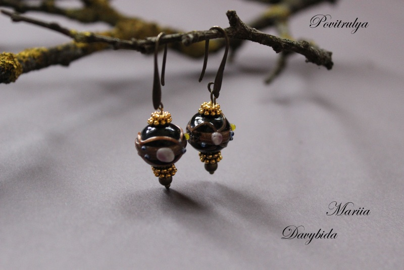 Ежевичная осень Черный Ожерелье выполнено из вен Давибида Мария - фото 5