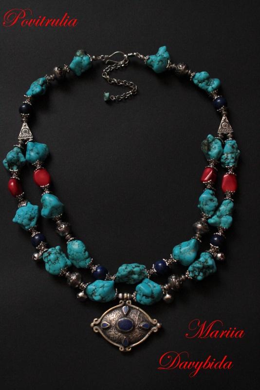 Путешествие в Марокко Разноцветный Ожерелье изготовлено из н Давибида Мария - фото 1