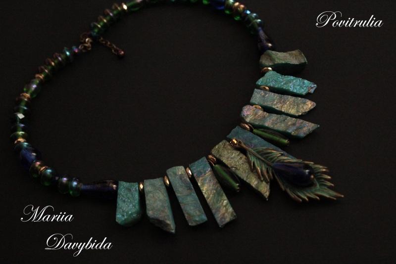 Пава Разноцветный Ожерелье изготовлено на п Давибида Мария - фото 1