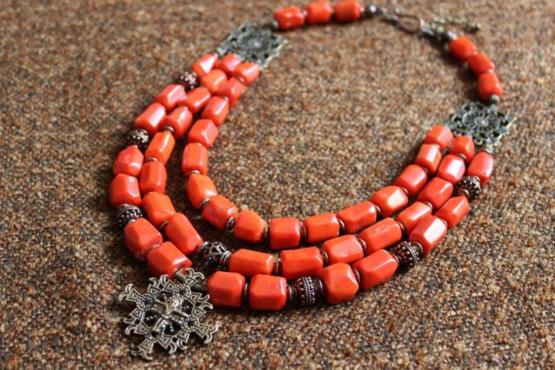 Будет мое Красный Ожерелье изготовлено из к Давибида Мария - фото 1