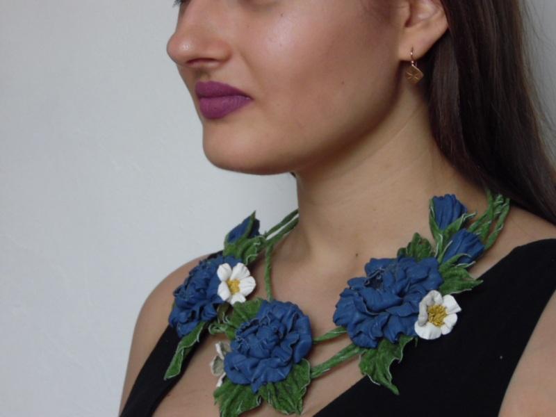 Очарование синего Синий кожа Добровольская Каринэ - фото 1