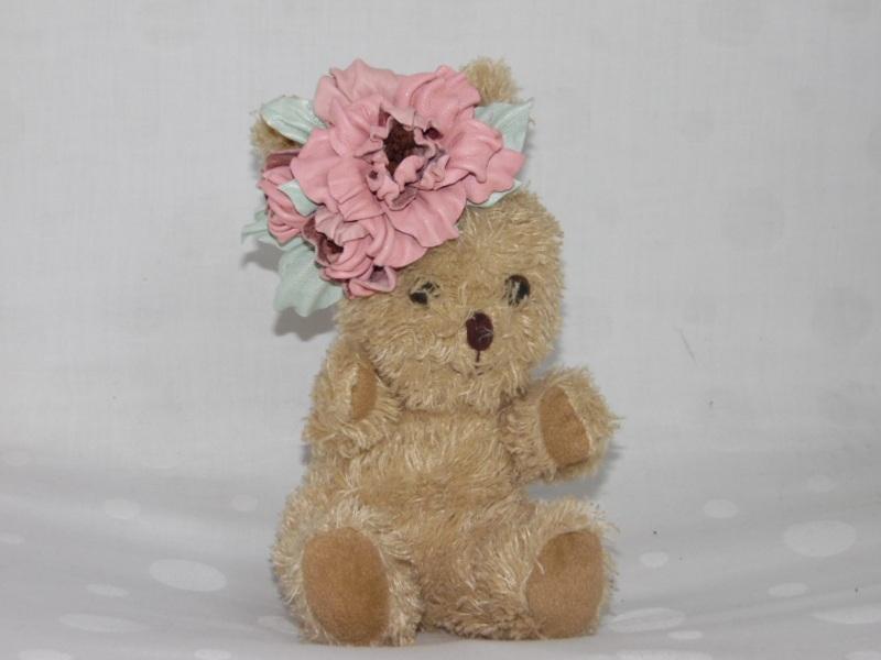 Заколка Нежность Розовый кожа Добровольская Каринэ - фото 2