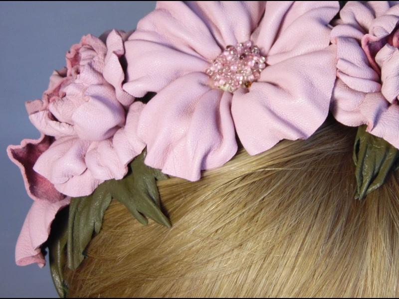 Обруч Красуня Рожевий шкіра Добровольська Каріне - фото 4