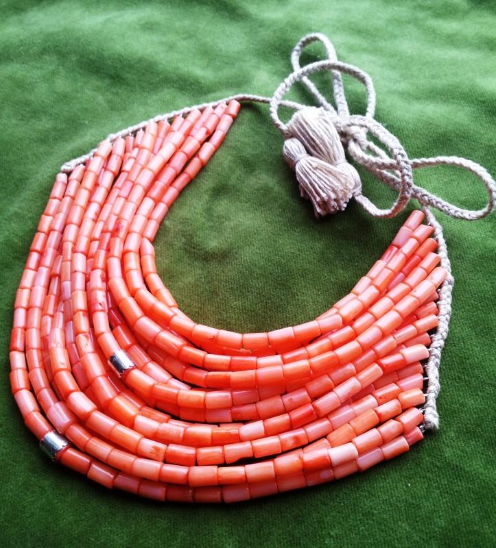 Коралловое ожерелье  коралл, серебро Дронь Ярина - фото 1
