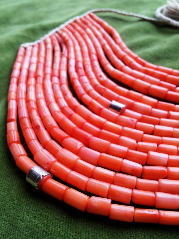 Коралловое ожерелье  коралл, серебро Дронь Ярина - фото 7