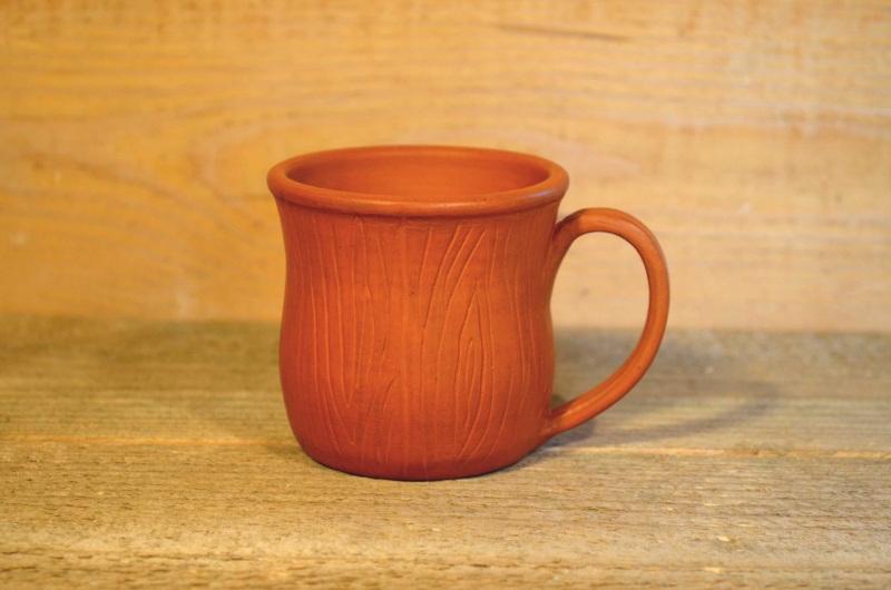 Чашка с блюдечком Коричневый Глина, лоскування, пчелин Гончарня Руслана Друка - фото 2