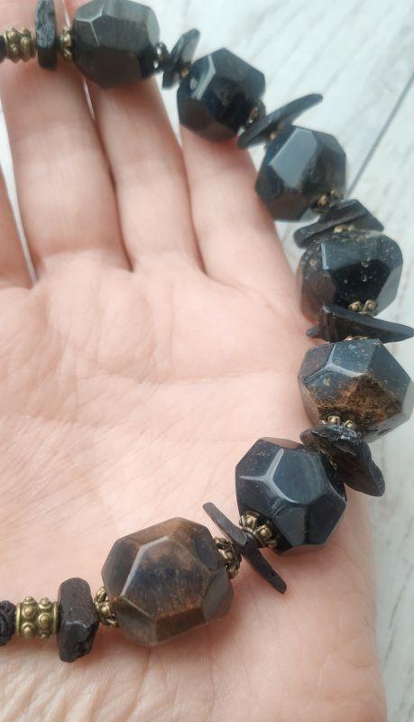 """Ожерелье """"Етна"""" Черный Натуральный некрашеный ко Дзюба Христина - фото 4"""