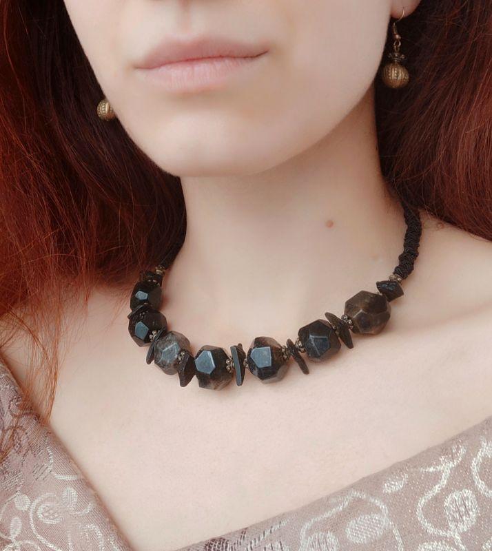 """Ожерелье """"Етна"""" Черный Натуральный некрашеный ко Дзюба Христина - фото 2"""
