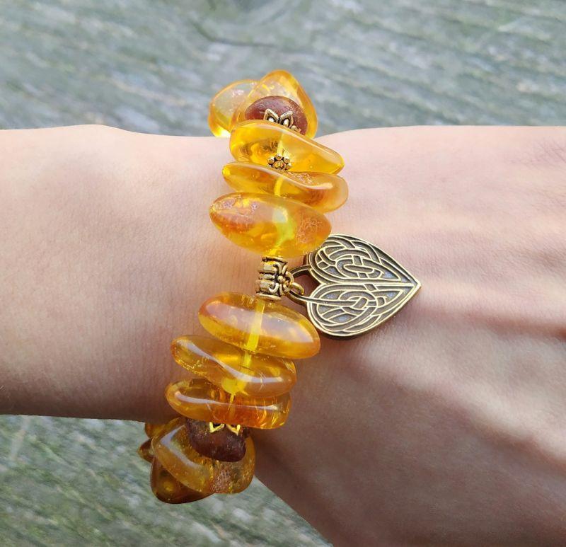Браслет для Льва (янтарь, сердолик) Желтый янтарь, сердолик Дзюба Христина - фото 7