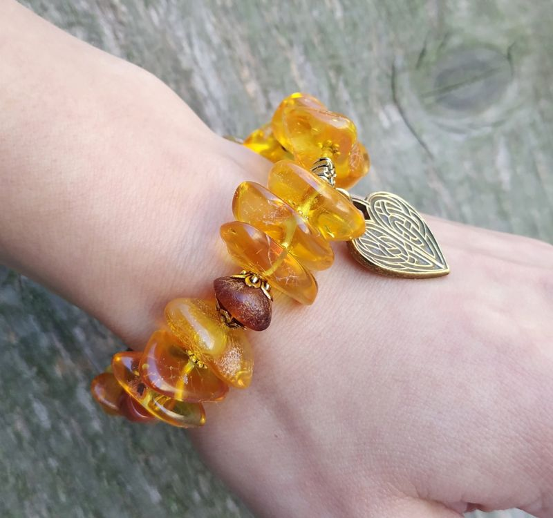 Браслет для Льва (янтарь, сердолик) Желтый янтарь, сердолик Дзюба Христина - фото 8