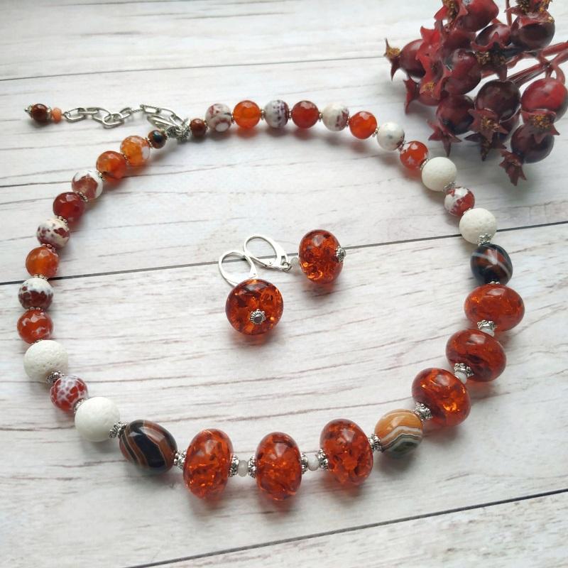 """Ожерелье """"Залитое солнцем""""    Это ожерелье создано из в Дзюба Христина - фото 1"""