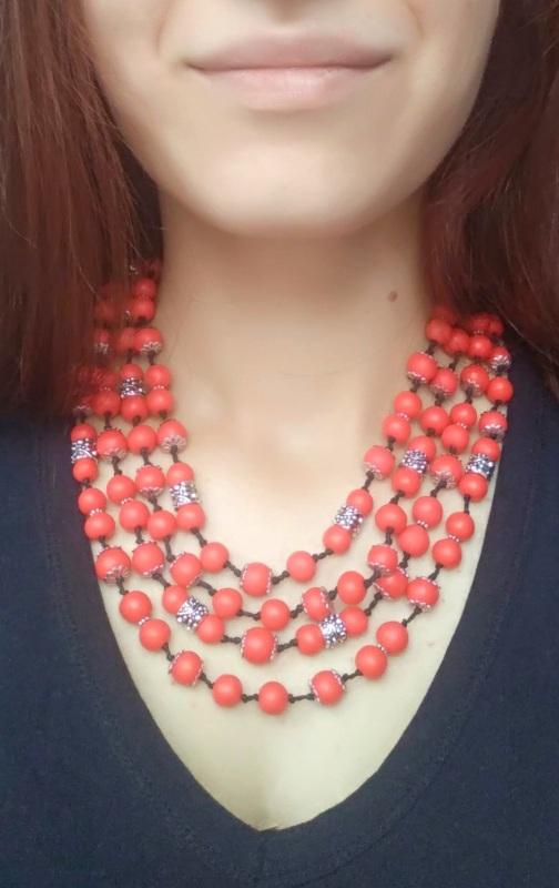 """Ожерелье """"Калина"""" Красный Бусины ручной работы с хо Дзюба Христина - фото 2"""
