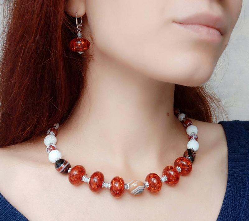 """Ожерелье """"Залитое солнцем""""    Это ожерелье создано из в Дзюба Христина - фото 2"""
