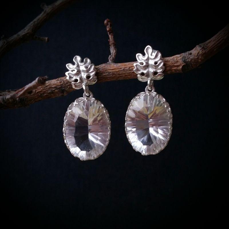 Серьги Невероятное сияние Серебряный горный хрусталь, серебро Для Счастья - фото 1