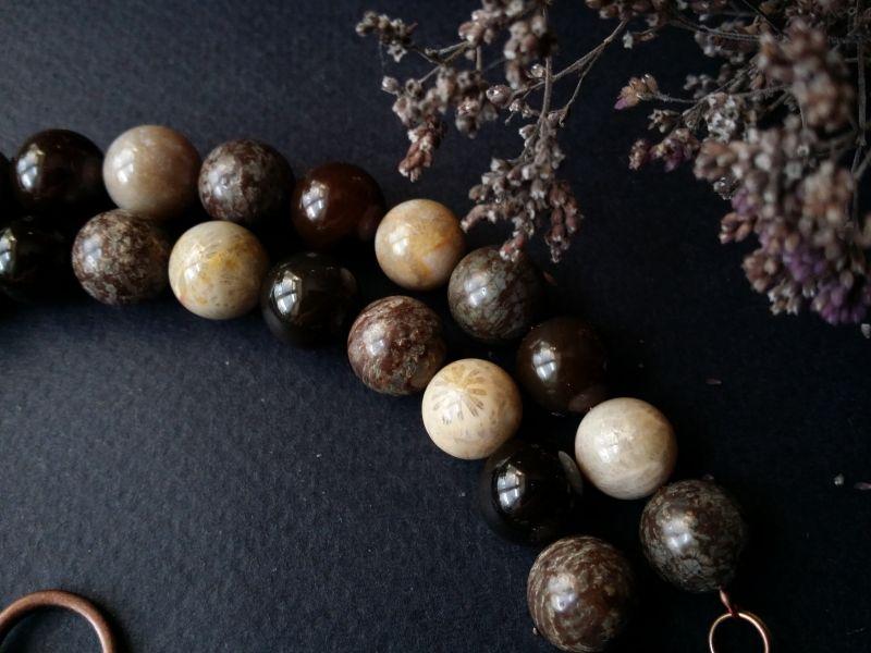 Утренний кофе бусы из керамики ручной работы  авторская керамика ручной Для Счастья - фото 2