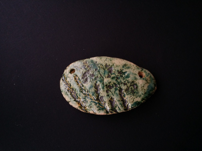 Керамический зеленый кулон Лесные травы Зеленый авторская керамика ручной Для Счастья - фото 2