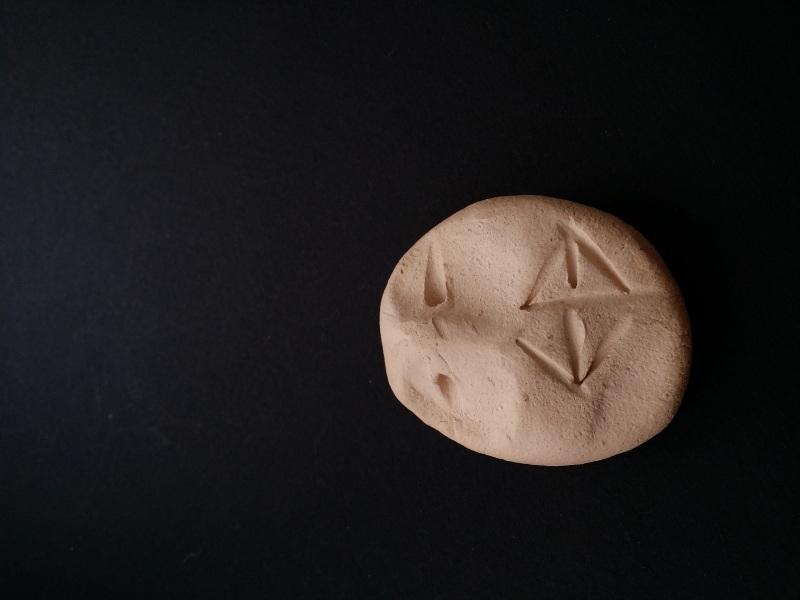 Керамический кулон Степной букет бежевый с маком просом и колосками  авторская керамика ручной Для Счастья - фото 2