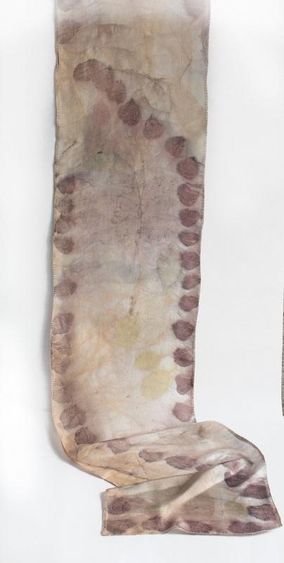 Шелковый шарф Розовый аромат Разноцветный шелк, екоприпнт Мастерская Теплых Подарков - фото 2