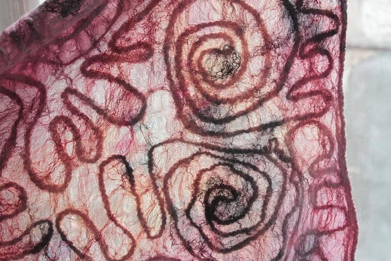 Шелковый палантин НЕВЕСОМОСТЬ  Маргеланський шелк, мерин Мастерская Теплых Подарков - фото 7