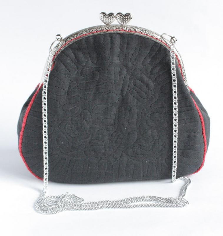 Авторская сумка - клатч Праздничная  Лен, вышивка, фурнитура Мастерская Теплых Подарков - фото 3
