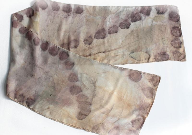 Шелковый шарф Розовый аромат Разноцветный шелк, екоприпнт Мастерская Теплых Подарков - фото 5