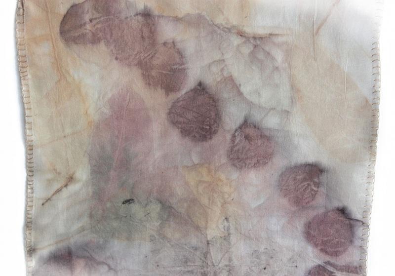 Шелковый шарф Розовый аромат Разноцветный шелк, екоприпнт Мастерская Теплых Подарков - фото 3