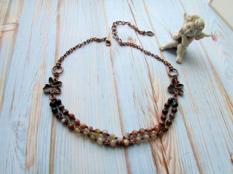 Ожерелье агатовое  Агат (граненые бусины), м Фарион Вера - фото 1