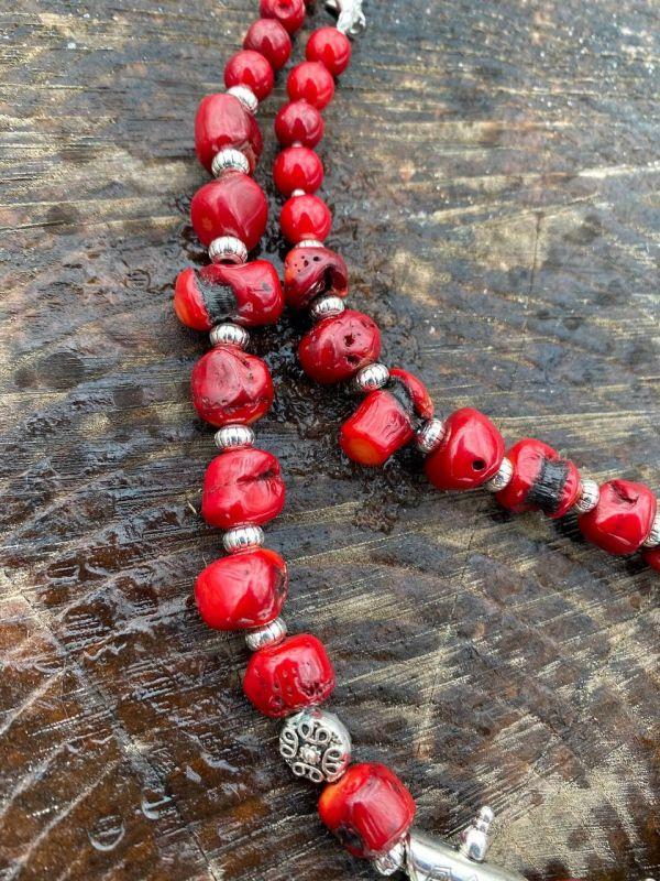 Чары мольфара Красный Ожерелье из дикого коралл Федоришин Татьяна - фото 2